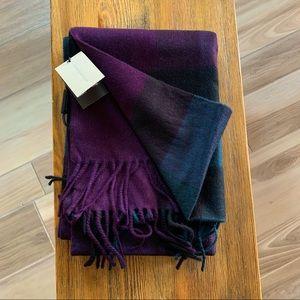 Burberry half mega check cashmere scarf 36x200cm